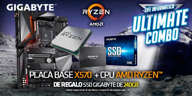 Ultimate Combo  Placa base X570  CPU AMD