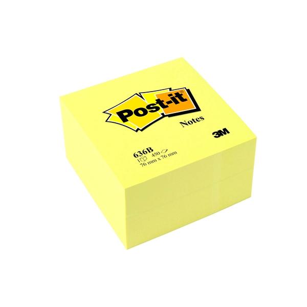 PostIt Cubo de Notas Adhesivas Color Amarillo 450 Hojas