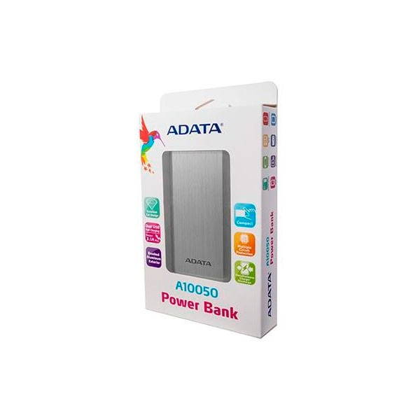 POWERBANK ADATA A10050 PLATA
