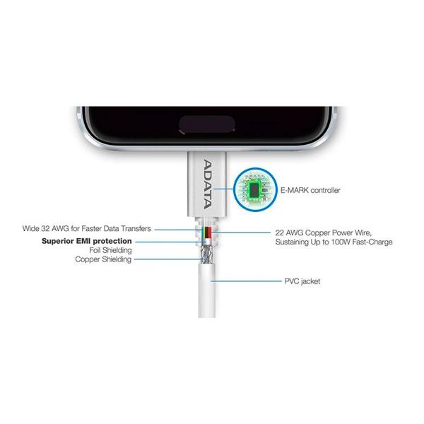 ADATA USBC a USB A 20 Cable blanco 1m