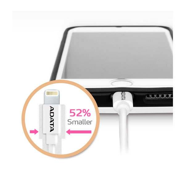 SyncCharge Lightning Cable 100cmWhit