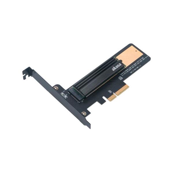 Akasa M2 x4 PCIe NVMe a PCIe x4 con disipador  Adaptador