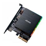 Akasa M2 PCIe NVMe amp M2 SATA RGB LED   Adaptador