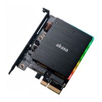 Akasa M.2 PCIe NVMe & M.2 SATA RGB LED  - Adaptador