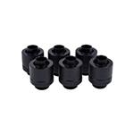 Alphacool para tubo blando 13MM negro pack 6  Racor