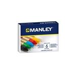 Manley Estuche 6 Ceras Colores Surtidos