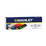 Manley Estuche 15 Ceras Colores Surtidos