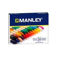 Manley Estuche 24 Ceras Colores Surtidos