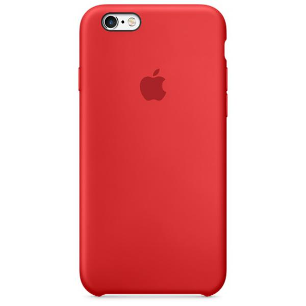 Apple Iphone 6S plus silicona rojo  Funda