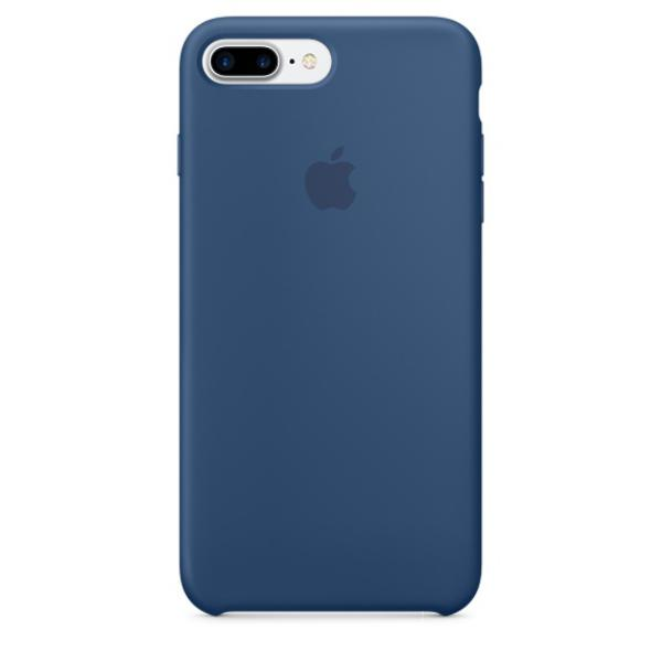 Apple Iphone 7 plus silicona azul oceano – Funda