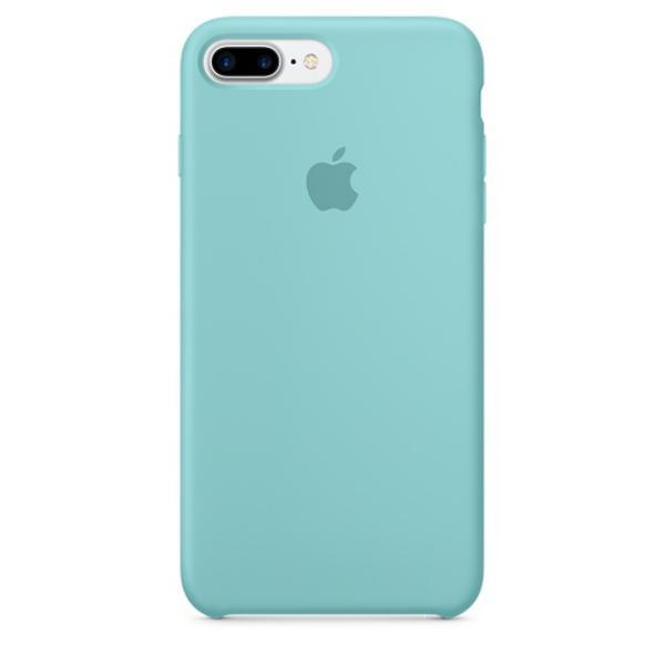 Apple Iphone 7 plus silicona azul mar – Funda
