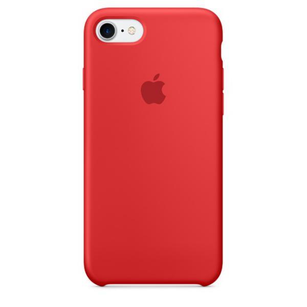 Apple Iphone 7 silicona rojo  Funda