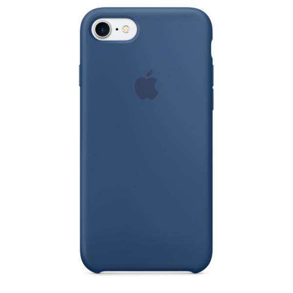 Apple Iphone 7 silicona azul oceano – Funda