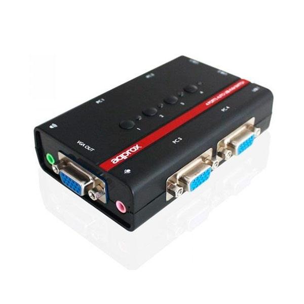 DATA SWITCH KVM 4X1 APPROX USB-VGA