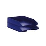 Pack 2 Bandejas Apilables Archivo 2000 Azul Fondo Liso