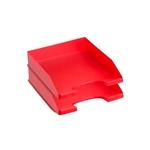 Pack 2 Bandejas Apilables Archivo 2000 Rojo Fondo Liso