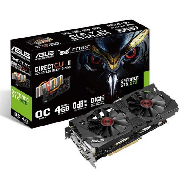 Asus Nvidia GeForce Strix GTX970 DC2 OC 4GB DDR5 - Gráfica