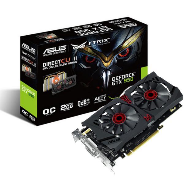 Asus Nvidia GeForce Strix GTX950 DC2 OC 2GB DDR5 - Gráfica