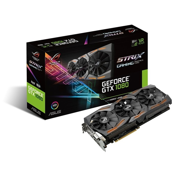 Asus Nvidia GeForce GTX 1080 Strix Gaming 8GB - Gráfica