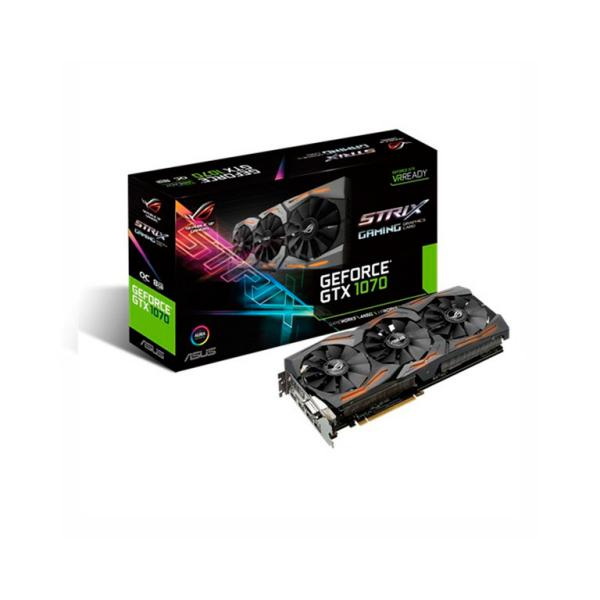 Asus Nvidia GeForce GTX1070 Strix OC 8GB – Gráfica