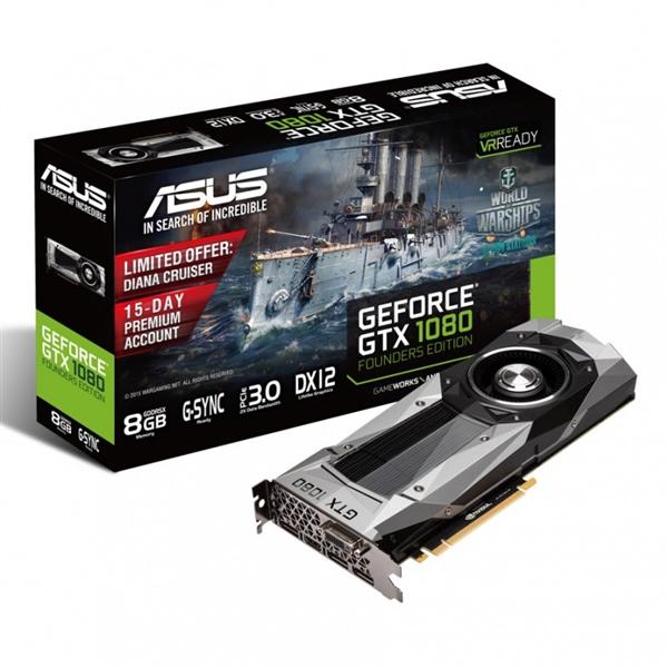 Asus Nvidia GeForce GTX1080 F.E. 8GB GDDR5X – Gráfica