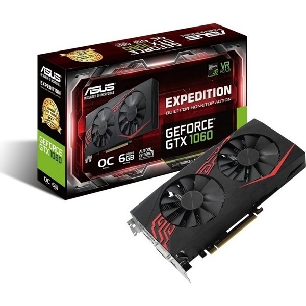 Asus Nvidia GeForce GTX 1060 Expedition OC 6GB – Gráfica