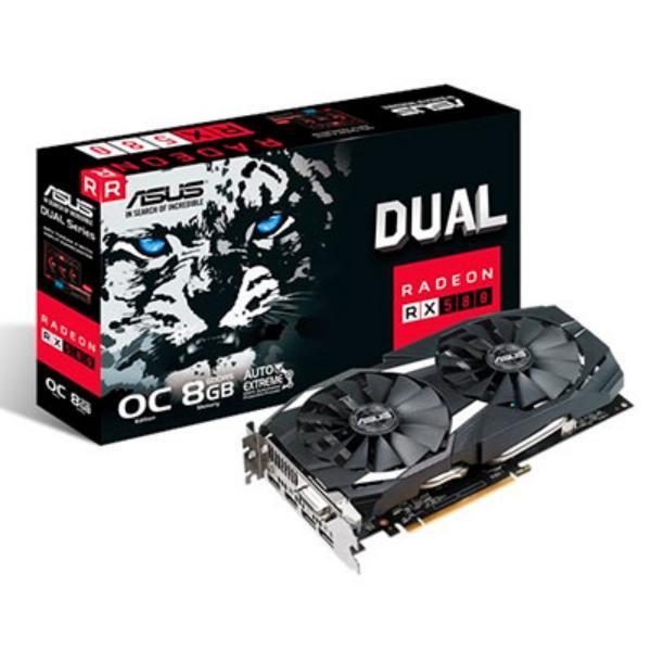 Asus AMD Radeon RX580 Dual OC 8GB – Gráfica