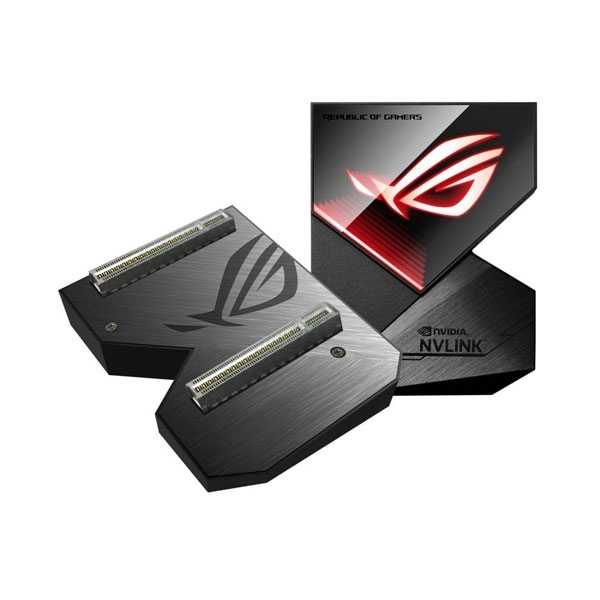 Asus ROG NVLink Bridge, 4 Slot, Aura Sync RGB - 80 mm
