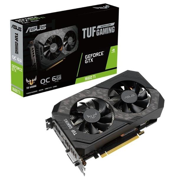 Asus TUF Gaming Geforce GTX1660 Ti Evo OC 6GB GDDR6  Gráfica