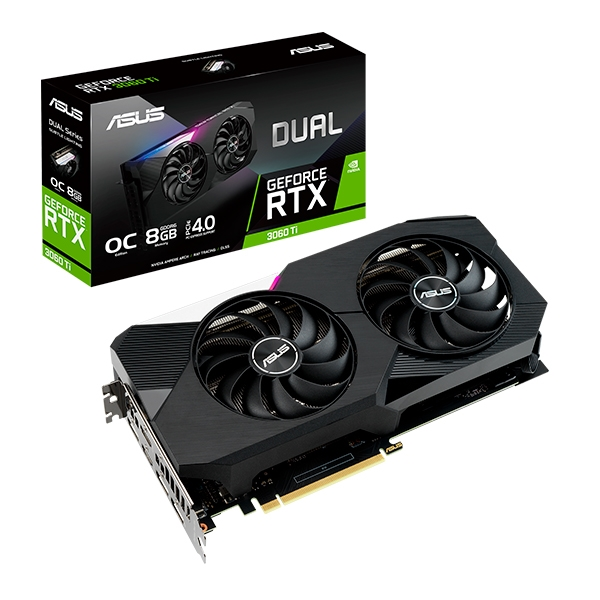 Asus Dual GeForce RTX3060 Ti OC 8GB GD6  Grfica