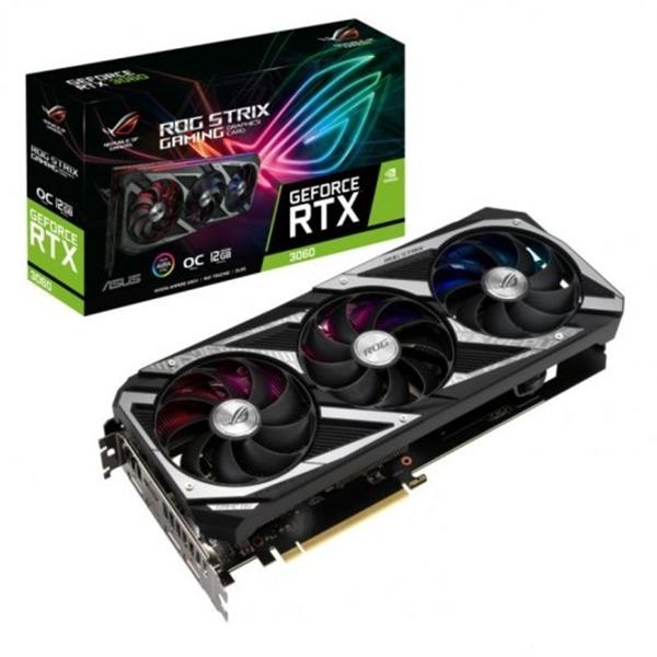 Asus ROG Strix GeForce RTX3060 OC 12GB GDDR6 LHR  Gráfica