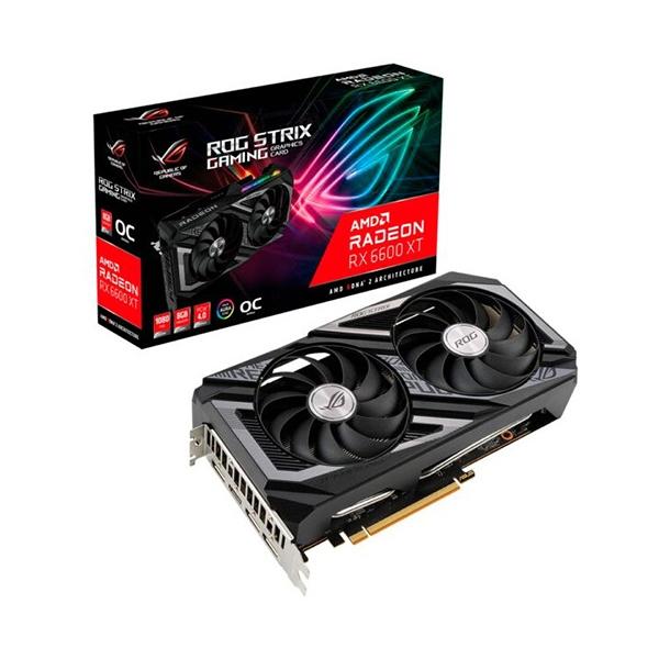 Asus ROG Strix Radeon RX6600 XT OC 8GB GDDR6 - Tarjeta Gráfica AMD