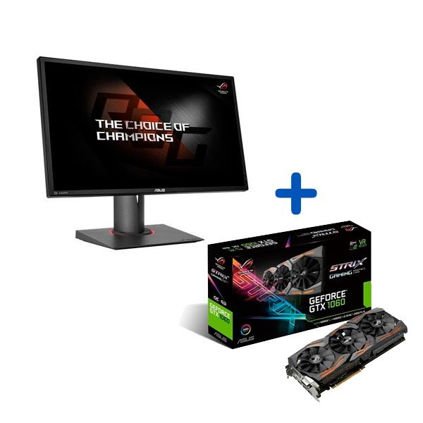Promoición Monitor Asus PG248Q + VGA GTX1060 Gaming OC