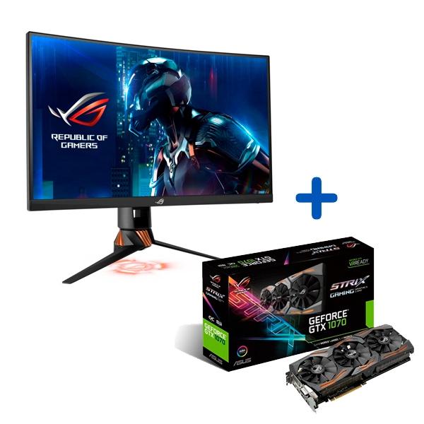 Promoción Monitor Asus PG258Q + VGA GTX1070 Strix OC