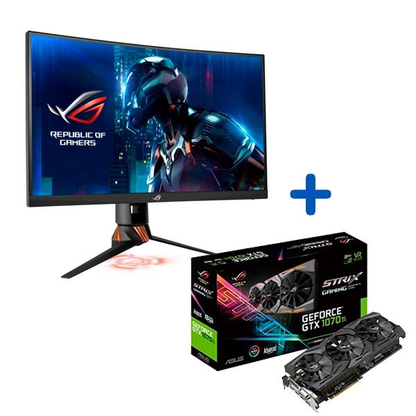 Promoción Monitor Asus PG27VQ + VGA GTX1070 TI Strix A8G