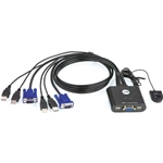 Aten CS22UAT 2 PC VGA USB  KVM