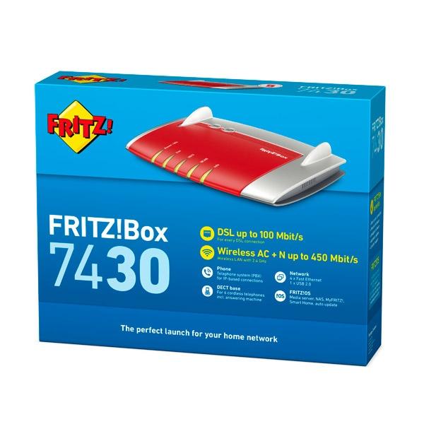 AVM FRITZBox ADSL 7430 WIFI N  Router