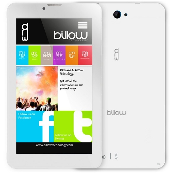 Billow X704 7 8GB 1GB 4G Android Blanco  Tablet