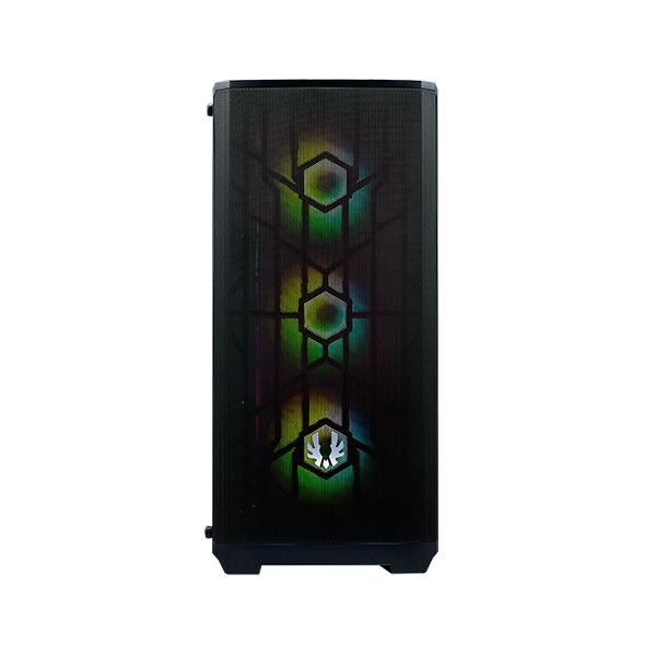 BitFenix Nova Mesh SE TG Cristal Templado USB 31 ARGB Negra  Caja