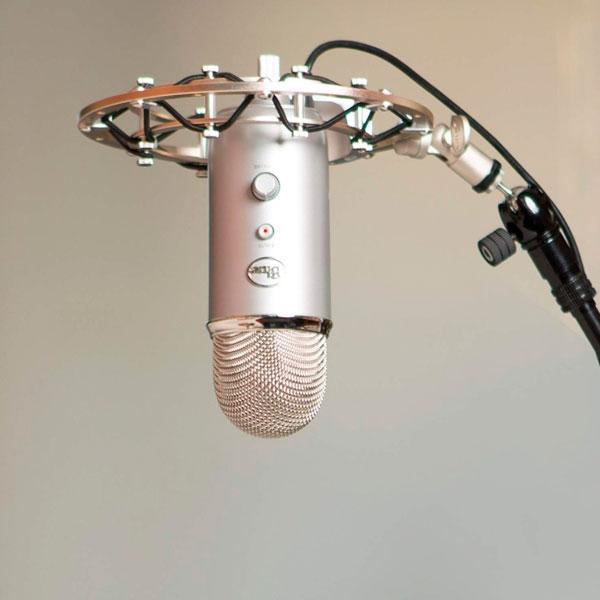 Blue Yeti USB Plata  Micrófono