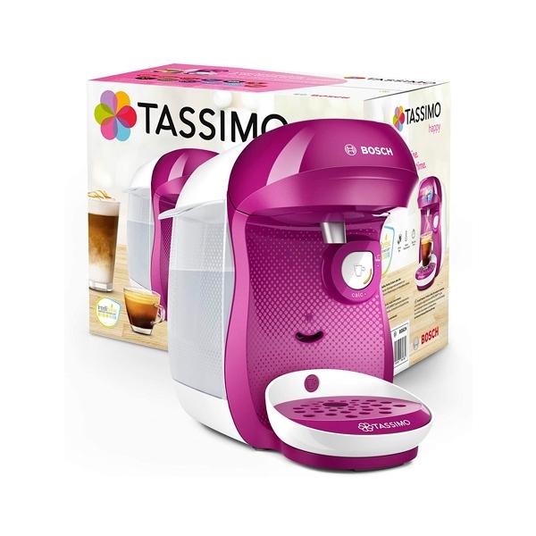Bosch Tassimo Happy Cafetera Multibebida BlancaRosa  Cafetera de Cápsulas