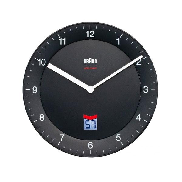 Braun BNC 006 reloj de pared negro
