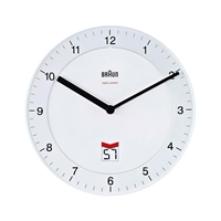 Braun BNC 006 reloj de pared blanco