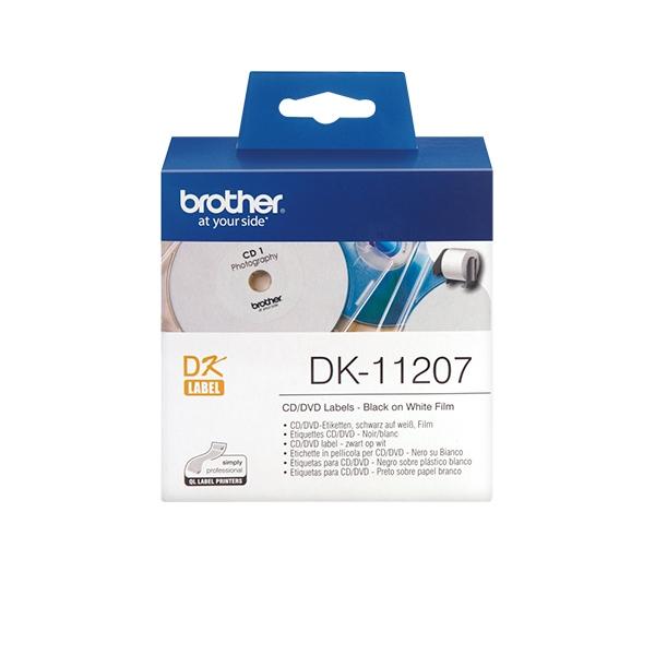 Etiquetas CD/DVD Brother DK-11207
