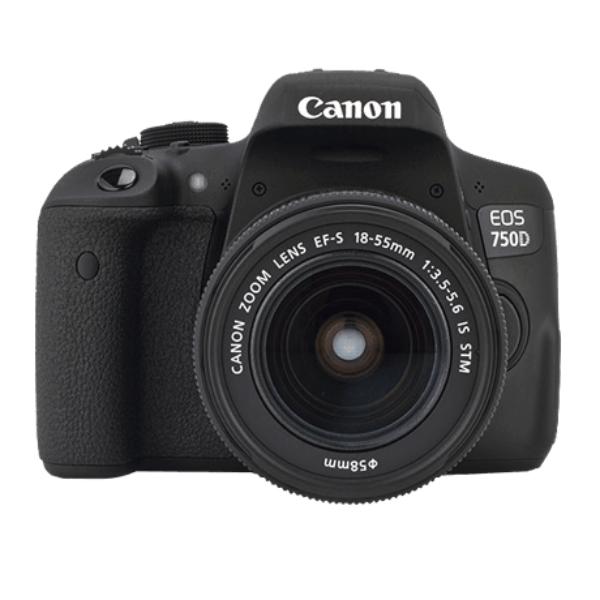 Canon EOS 750D + EF-S IS STM 18 55 mm - Cámara Reflex