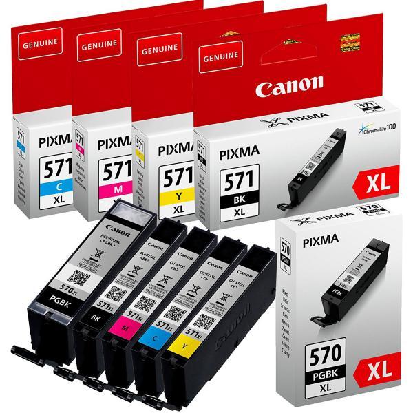 Canon Multipack PGI-570 CLI571 Pack 5 Cartuchos - Tinta