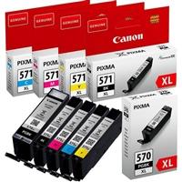 Canon Multipack PGI570 CLI571 Pack 5 Cartuchos  Tinta