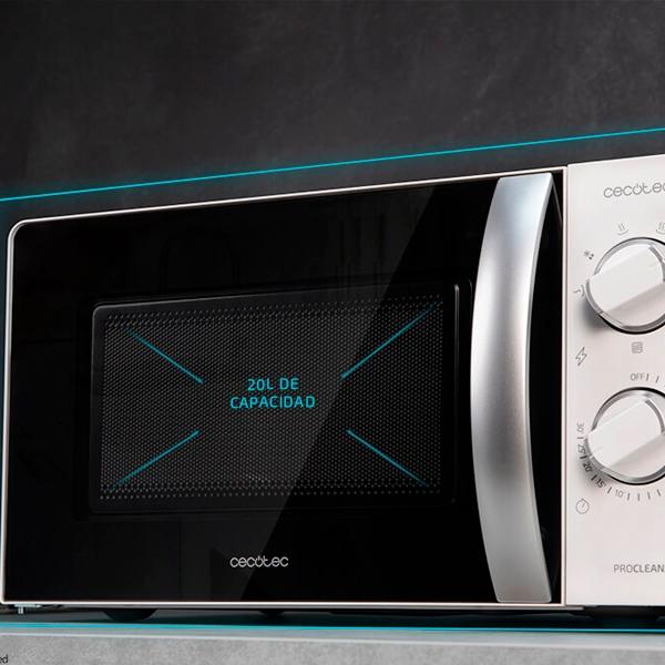 Cecotec ProClean 2110 Blanco 700W 20L con Grill  Microondas