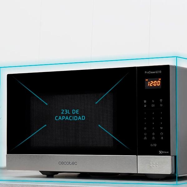 Cecotec ProClean 6010 Negro 800W 23L  Microondas