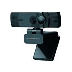 Conceptronic AMDIS07B  4K con Doble Micrófono  Webcam
